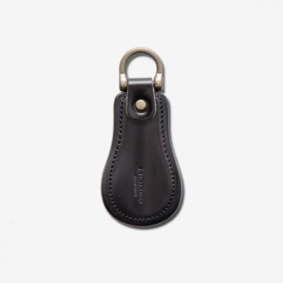 NORIEI SHOE HORN KEY RING / BLACK - OILED CORDOVAN